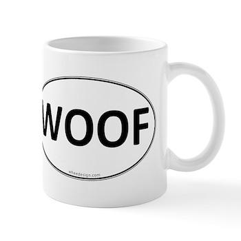 WOOF Euro Oval Mug