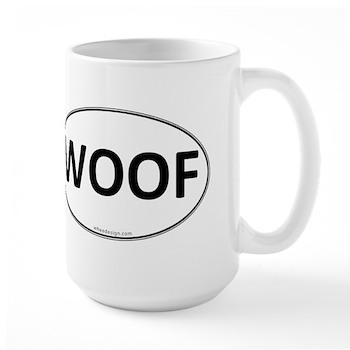 WOOF Euro Oval Large Mug