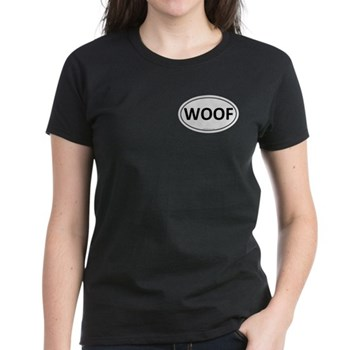 WOOF Euro Oval Women's Dark T-Shirt