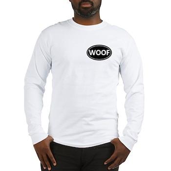 WOOF Black Euro Oval Long Sleeve T-Shirt