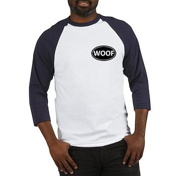 WOOF Black Euro Oval Baseball Jersey