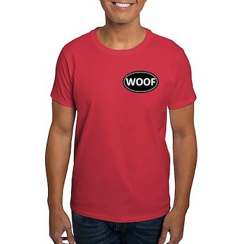 WOOF Black Euro Oval Dark T-Shirt