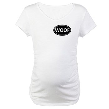 WOOF Black Euro Oval Maternity T-Shirt
