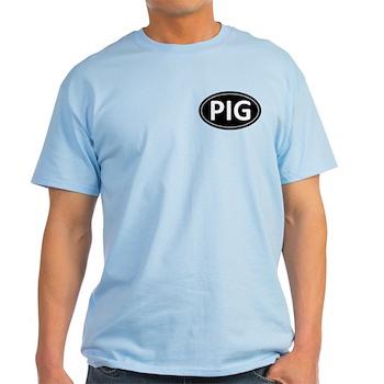 PIG Black Euro Oval Light T-Shirt