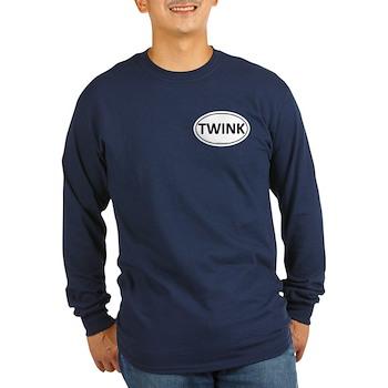 TWINK Euro Oval Long Sleeve Dark T-Shirt