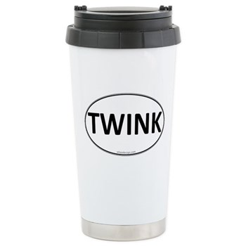 TWINK Euro Oval Stainless Steel Travel Mug