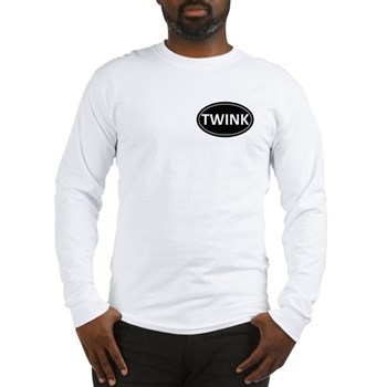 TWINK Black Euro Oval Long Sleeve T-Shirt