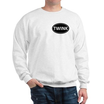 TWINK Black Euro Oval Sweatshirt