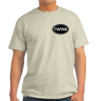TWINK Black Euro Oval Light T-Shirt