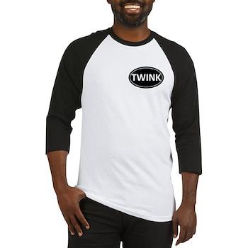 TWINK Black Euro Oval Baseball Jersey