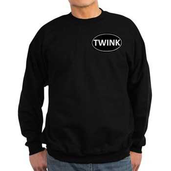 TWINK Black Euro Oval Dark Sweatshirt
