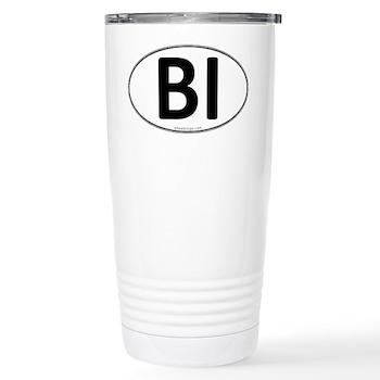 BI Euro Oval Stainless Steel Travel Mug