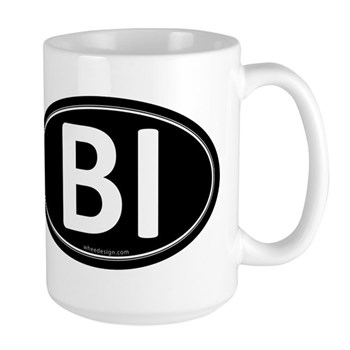 BI Black Euro Oval Large Mug