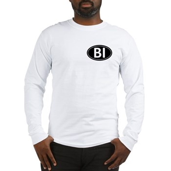 BI Black Euro Oval Long Sleeve T-Shirt