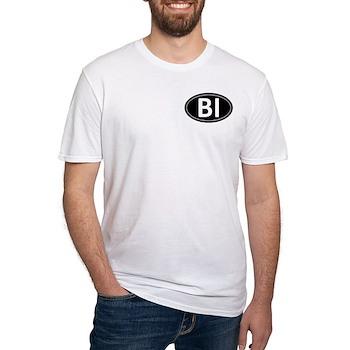 BI Black Euro Oval Fitted T-Shirt
