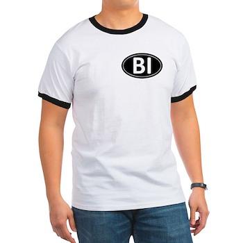 BI Black Euro Oval Ringer T