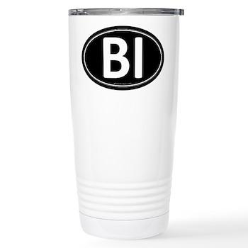 BI Black Euro Oval Stainless Steel Travel Mug