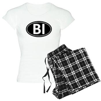 BI Black Euro Oval Women's Light Pajamas