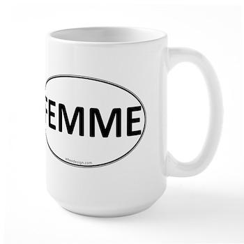 FEMME Euro Oval Large Mug