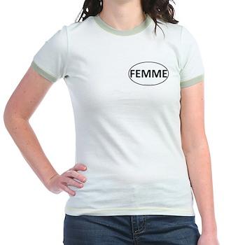 FEMME Euro Oval Jr. Ringer T-Shirt