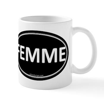 FEMME Black Euro Oval Mug