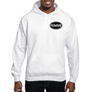 FEMME Black Euro Oval Hooded Sweatshirt