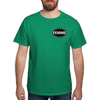 FEMME Black Euro Oval Dark T-Shirt