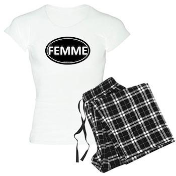 FEMME Black Euro Oval Women's Light Pajamas