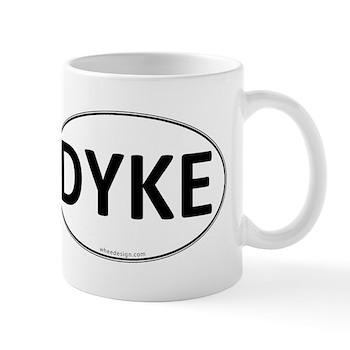 DYKE Euro Oval Mug