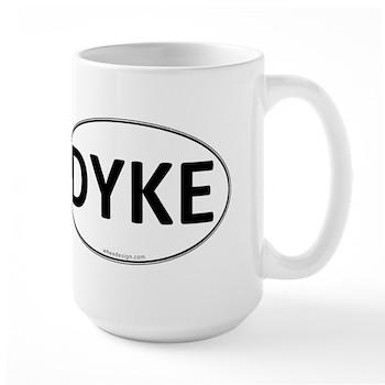 DYKE Euro Oval Large Mug