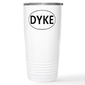 DYKE Euro Oval Stainless Steel Travel Mug