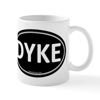 DYKE Black Euro Oval Mug