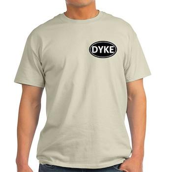 DYKE Black Euro Oval Light T-Shirt