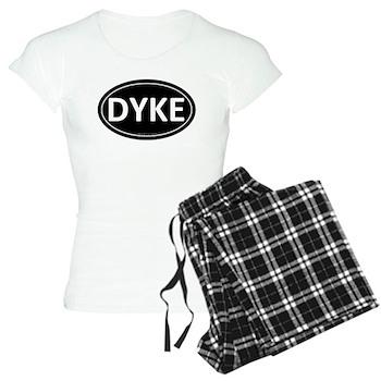 DYKE Black Euro Oval Women's Light Pajamas