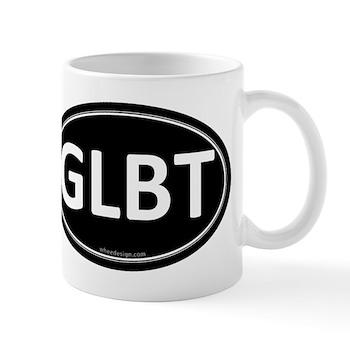 GLBT Black Euro Oval Mug
