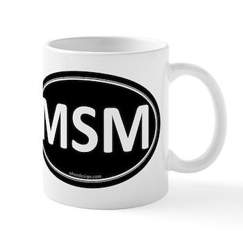 MSM Black Euro Oval Mug