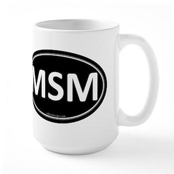 MSM Black Euro Oval Large Mug