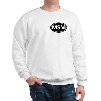MSM Black Euro Oval Sweatshirt