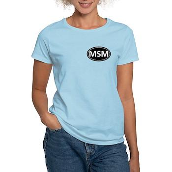 MSM Black Euro Oval Women's Light T-Shirt
