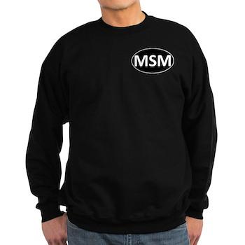 MSM Black Euro Oval Dark Sweatshirt