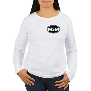 MSM Black Euro Oval Women's Long Sleeve T-Shirt