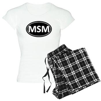 MSM Black Euro Oval Women's Light Pajamas