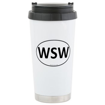 WSW Euro Oval Stainless Steel Travel Mug