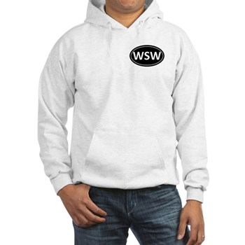 WSW Black Euro Oval Hooded Sweatshirt