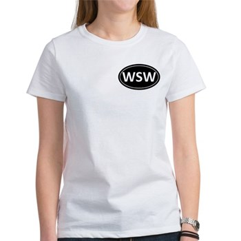 WSW Black Euro Oval Women's T-Shirt