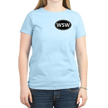 WSW Black Euro Oval Women's Light T-Shirt