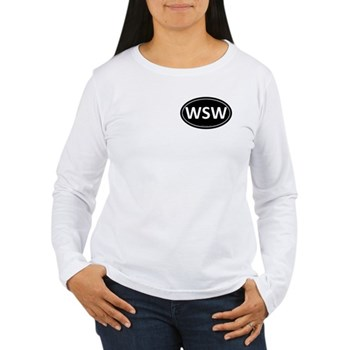 WSW Black Euro Oval Women's Long Sleeve T-Shirt