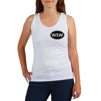 WSW Black Euro Oval Women's Tank Top