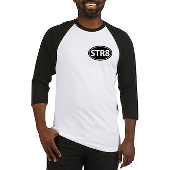 STR8 Black Euro Oval Baseball Jersey