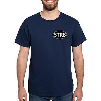 STR8 Black Euro Oval Dark T-Shirt
